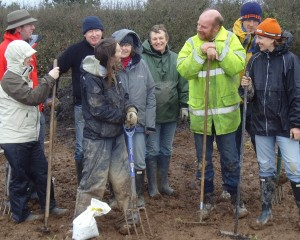 Some of the stalwarts who turned out on the first volunteer day