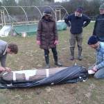 First polytunnel cover  06-03-11 2